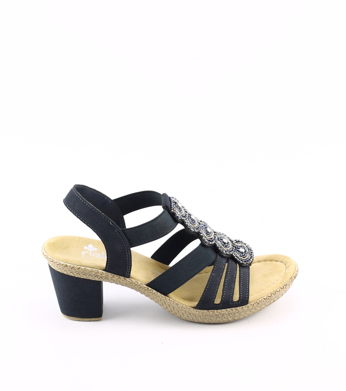 Rieker 665G8 14 blauw dames sandalen | Theo Jansen Schoenen