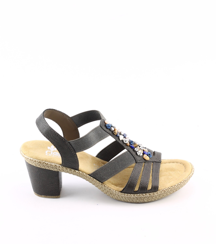rieker sandalette grau