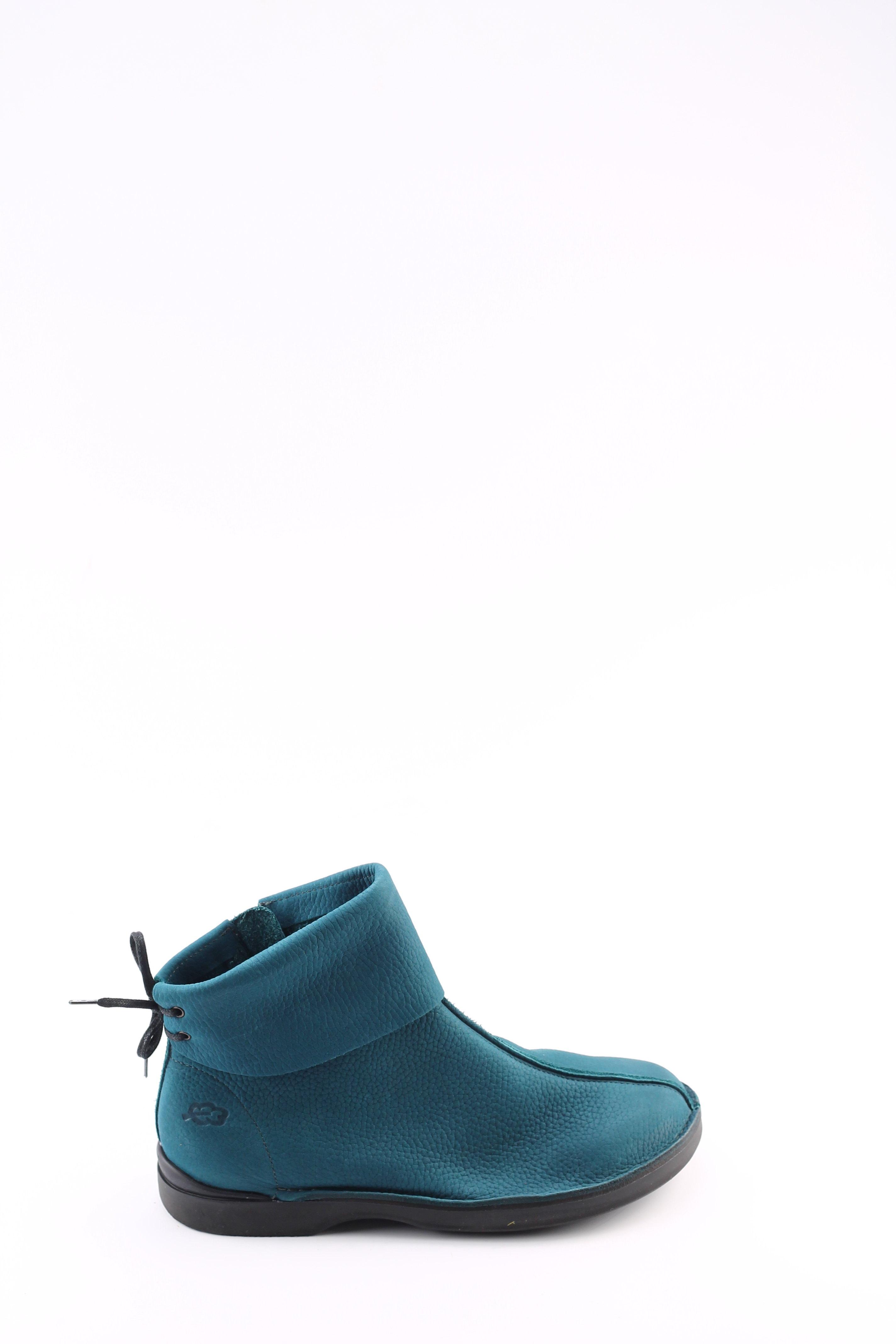 Loints 57903 turquoise dames korte laarsjes | Theo Jansen Schoenen